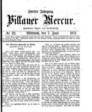 Pillauer Merkur vom 07.06.1871