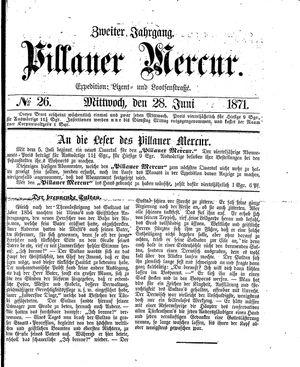 Pillauer Merkur vom 28.06.1871