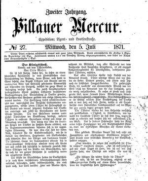 Pillauer Merkur vom 05.07.1871