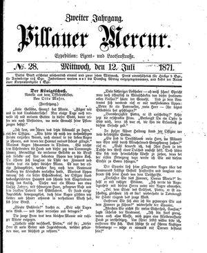 Pillauer Merkur vom 12.07.1871