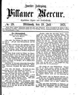 Pillauer Merkur vom 19.07.1871