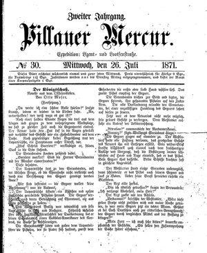 Pillauer Merkur vom 26.07.1871