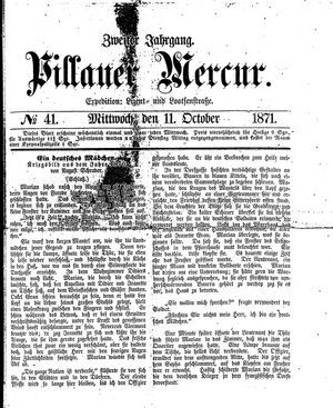 Pillauer Merkur vom 11.10.1871