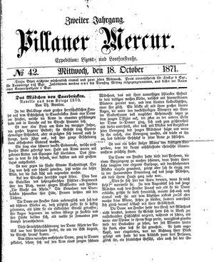 Pillauer Merkur vom 18.10.1871