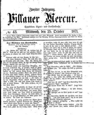 Pillauer Merkur vom 25.10.1871