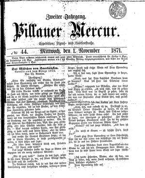 Pillauer Merkur vom 01.11.1871