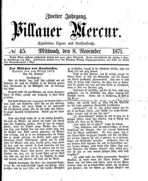 Pillauer Merkur vom 08.11.1871