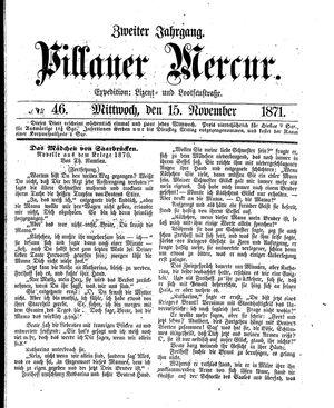 Pillauer Merkur vom 15.11.1871