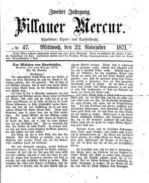 Pillauer Merkur vom 22.11.1871
