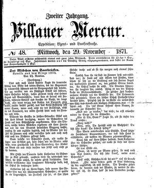 Pillauer Merkur vom 29.11.1871