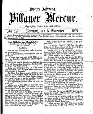 Pillauer Merkur vom 06.12.1871