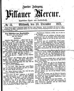 Pillauer Merkur vom 20.12.1871