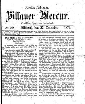 Pillauer Merkur vom 27.12.1871