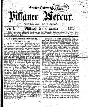 Pillauer Merkur vom 03.01.1872