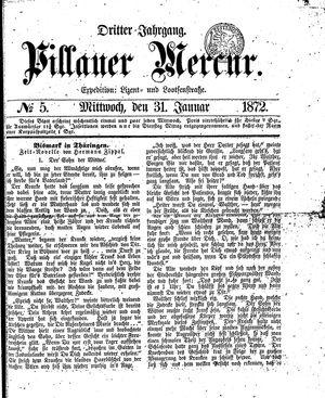 Pillauer Merkur vom 31.01.1872