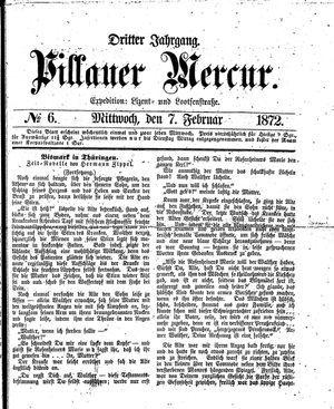Pillauer Merkur vom 07.02.1872