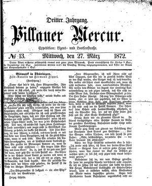 Pillauer Merkur vom 27.03.1872