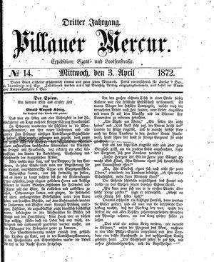 Pillauer Merkur vom 03.04.1872