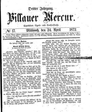Pillauer Merkur vom 24.04.1872