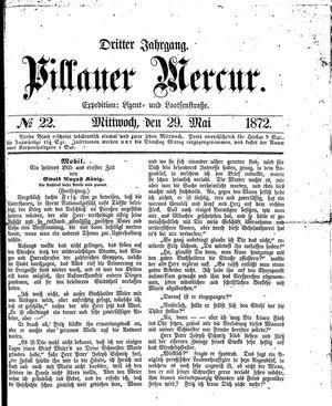 Pillauer Merkur vom 29.05.1872