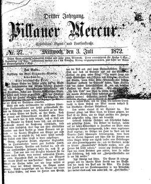 Pillauer Merkur vom 03.07.1872