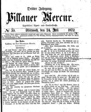 Pillauer Merkur vom 24.07.1872
