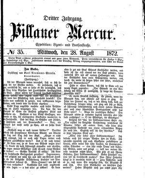 Pillauer Merkur vom 28.08.1872