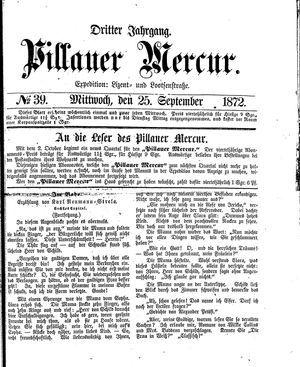 Pillauer Merkur vom 25.09.1872