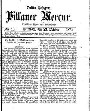 Pillauer Merkur vom 23.10.1872