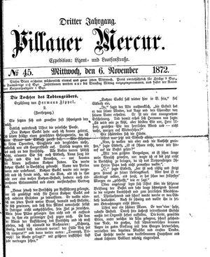Pillauer Merkur vom 06.11.1872