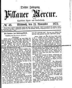 Pillauer Merkur vom 13.11.1872