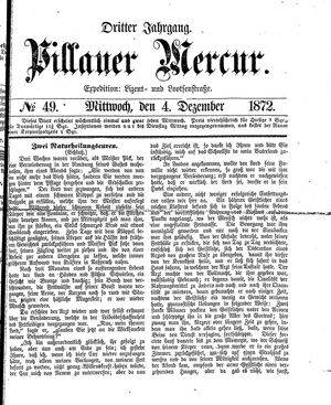 Pillauer Merkur vom 04.12.1872