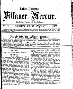 Pillauer Merkur vom 18.12.1872