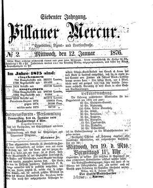 Pillauer Merkur vom 12.01.1876