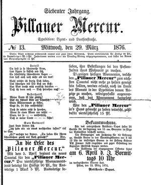 Pillauer Merkur vom 29.03.1876