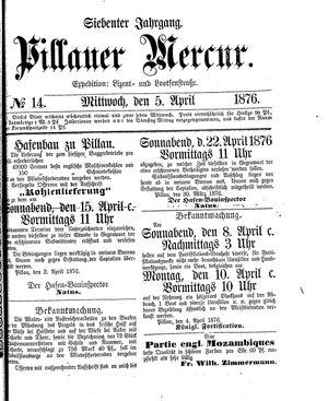 Pillauer Merkur vom 05.04.1876