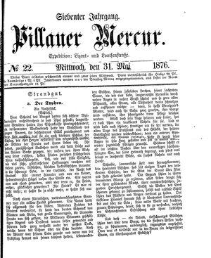 Pillauer Merkur vom 31.05.1876