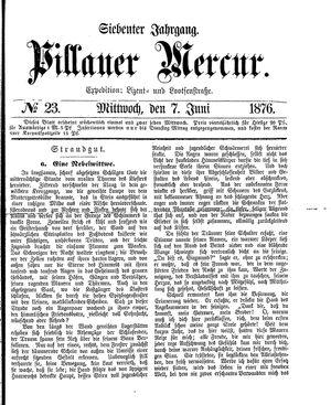 Pillauer Merkur vom 07.06.1876