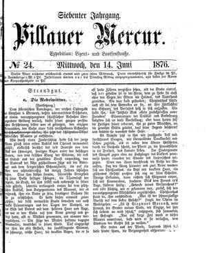 Pillauer Merkur vom 14.06.1876