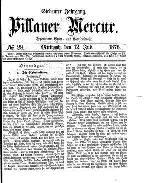 Pillauer Merkur vom 12.07.1876