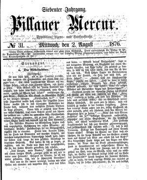 Pillauer Merkur vom 02.08.1876