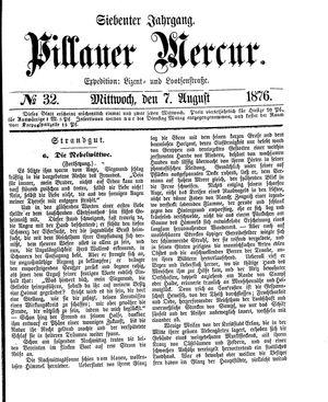 Pillauer Merkur vom 07.08.1876