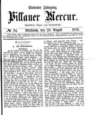 Pillauer Merkur vom 23.08.1876