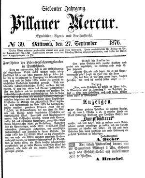 Pillauer Merkur vom 27.09.1876