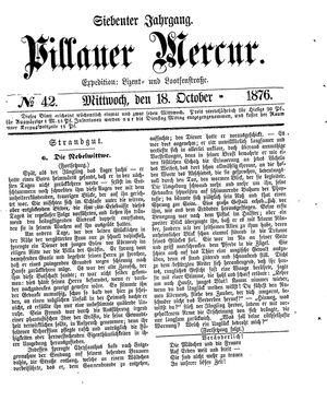 Pillauer Merkur vom 18.10.1876