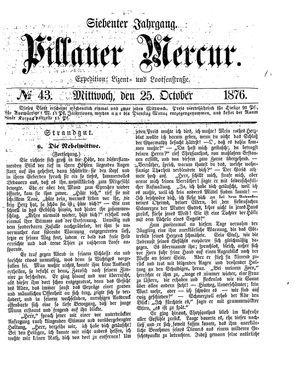 Pillauer Merkur vom 25.10.1876