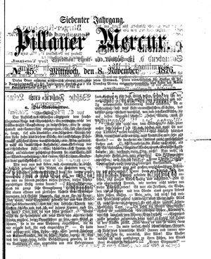 Pillauer Merkur vom 08.11.1876
