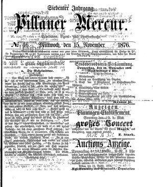 Pillauer Merkur vom 15.11.1876