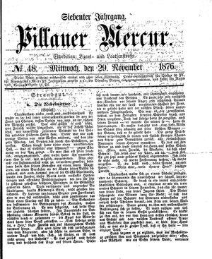 Pillauer Merkur vom 29.11.1876