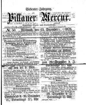 Pillauer Merkur vom 13.12.1876